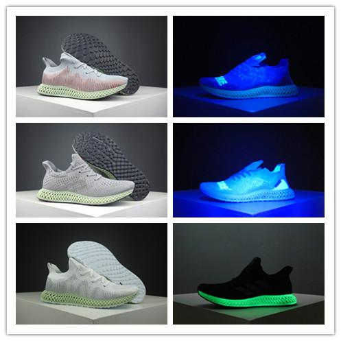 2019 Moda Invencible x FutureCraft 4D Rainbow Grey Aviation Green Primeknit Casual Running Shoes Mens Grey Sky Sports Sneakers Tamaño 36-45