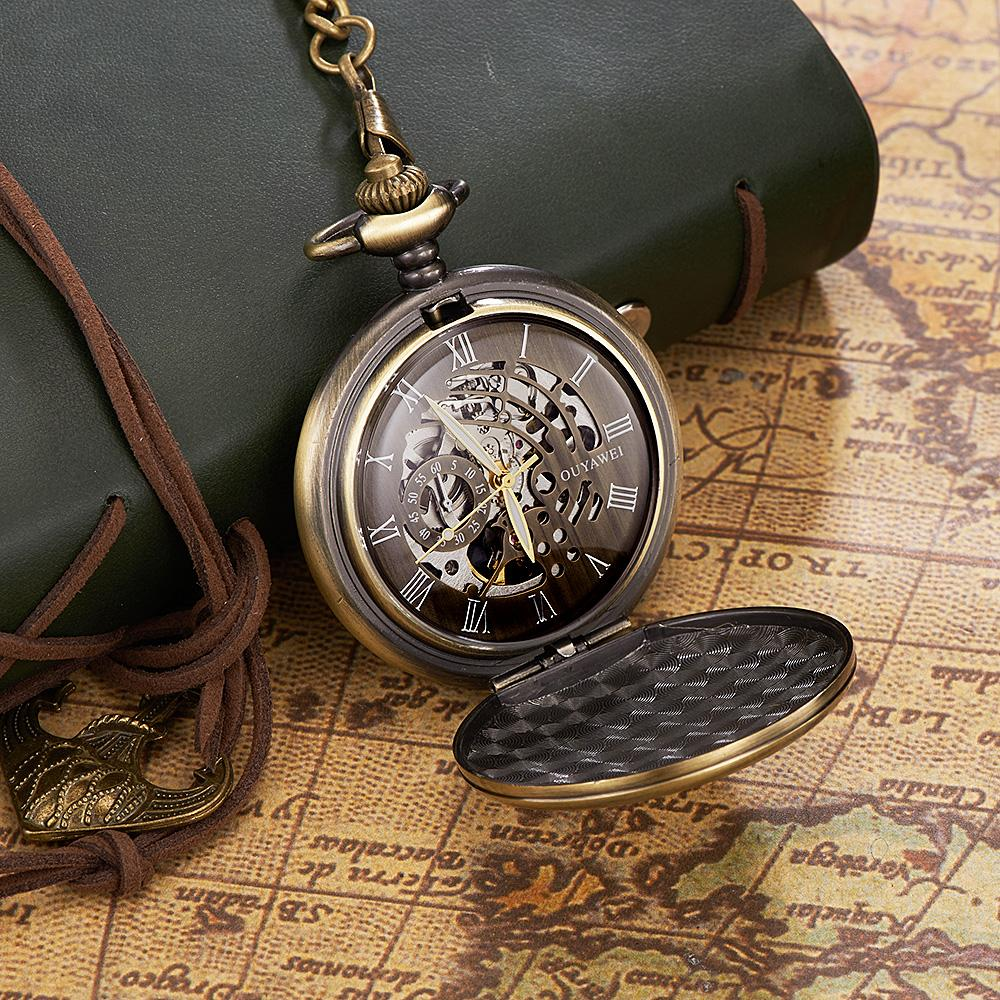 Watches Strict Wholesale Buyer Price Good Quality Girl Woman Lady Fashion Vintage Bronze Skull Pocket Watch Necklace Hour In Short Supply