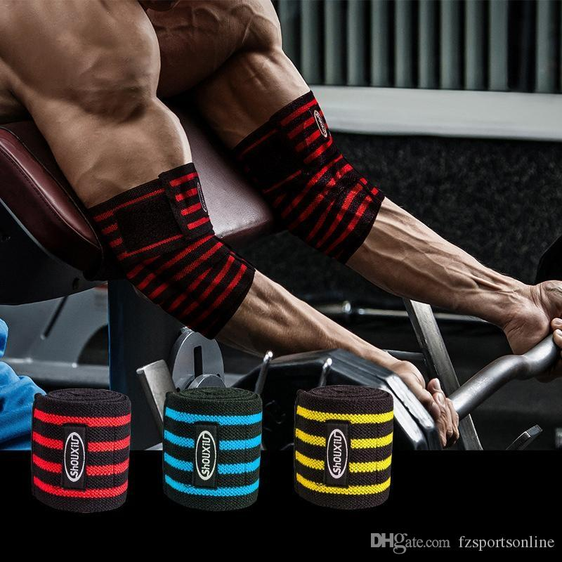 cadceabdae 2019 Powerlifting Elbow Pads Wraps Adjustable Compression Sleeves Crossfit  Weightlifting Training Gym Fitness Workout Strength #220358 From  Fzsportsonline, ...
