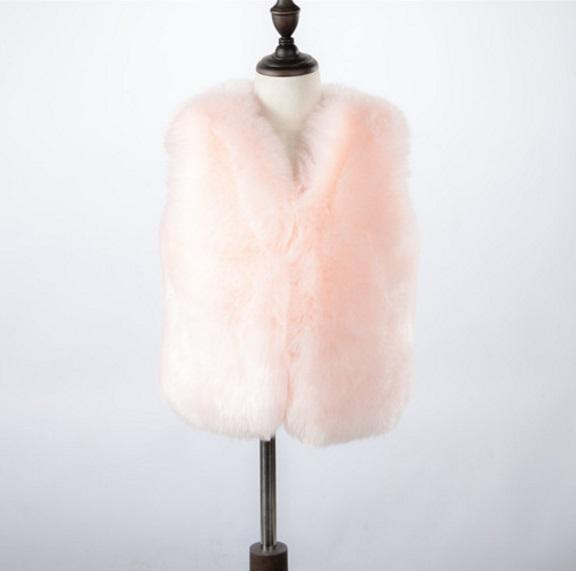 4a188edd8 2019 Autumn Winter Baby Girls Faux Fur Vest Waistcoat Casaco Inverno ...
