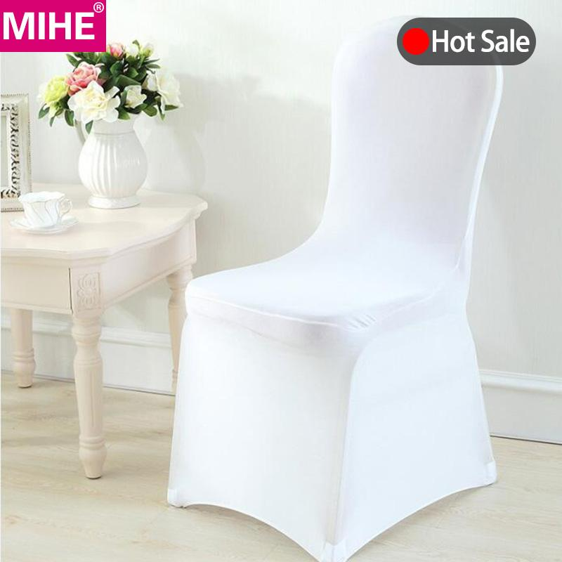 Modern Wedding Chair Cover Spandex Stretch Elastic Banquet Chair Covers Kitchen Dining Seat Hotel Covers Outdoor YZT06
