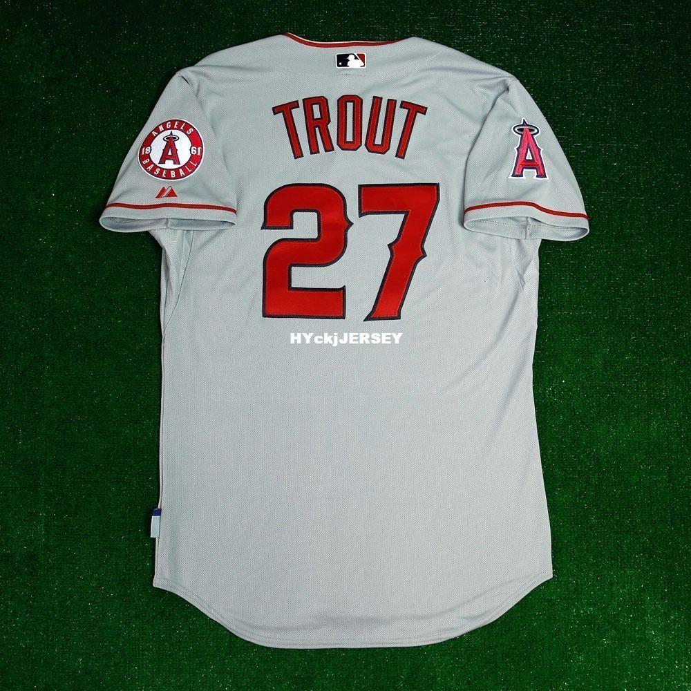 fee4c5be3 2019 Cheap MAJESTIC LOS ANGELES MIKE TROUT 27  COOL BASE Jersey Mens  Stitched Wholesale Big And Tall SIZE XS 6XL Baseball Jerseys From  Hyckjjersey