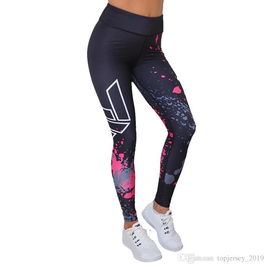 Compre NUEVO Floral Impreso Pantalones Mujeres Sexy Banda Elástica Atlético Gimnasio  Leggings Damas Vendaje Apretado Deportes Correr Yoga Pantalón ... 12dd4e9c024d