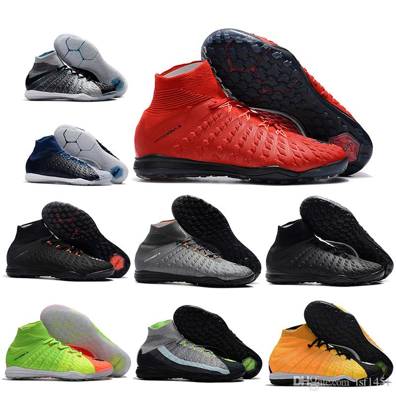 0afb6b8763c Mens High Ankle Football Boots HypervenomX Proximo II DF IC TF Soccer Shoes  Neymar ACC Superfly Hypervenom III Indoor Turf Soccer Cleats Cute Shoes Mens  ...