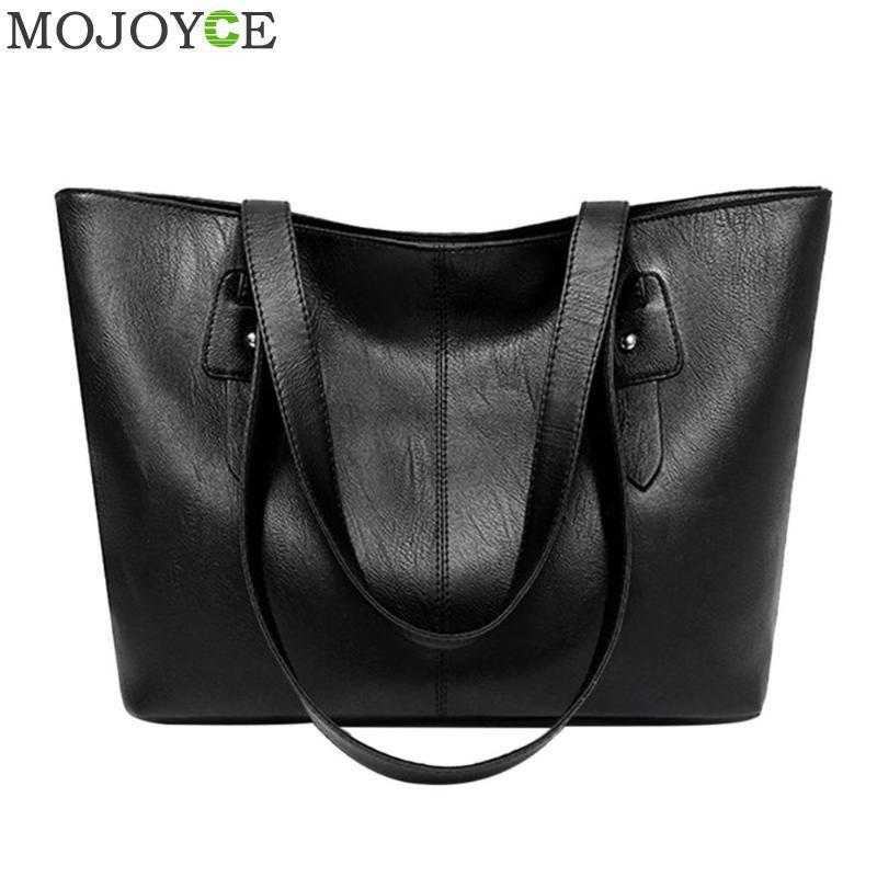 d36ccf676807 Designer Classic Women Casual Pure Shoulder Handbags PU Leather Large  Capacity Totes Shoulder Bag Large Ladies Shopping Bags 2019 Purses Designer  Handbags ...
