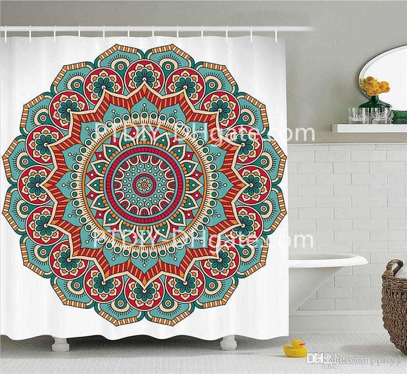 2019 Professional DIY Unique Mandala Shower Curtain Traditional Ethnic Circle Meditation Folk Spiritual Culture Print From Ptdiy2 2222