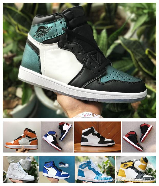 2019 2018 Retro Banned Bred Toe Chicago Shadow 1 OG 1s High Game Royal Blue  Men Women Basketball Shoes Sports Valentine Designer Sneakers Trainer From  ... 7daa7061ae