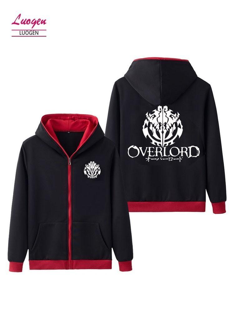 bf53f9d8170 Luogen Dropshipping Cool Hooded Sweatshirt Coat Anime Clothing OVERLORD  Zipper Streetwear Hoody Long Sleeve Hoodies Sweatshirts Hoodies    Sweatshirts Cheap ...