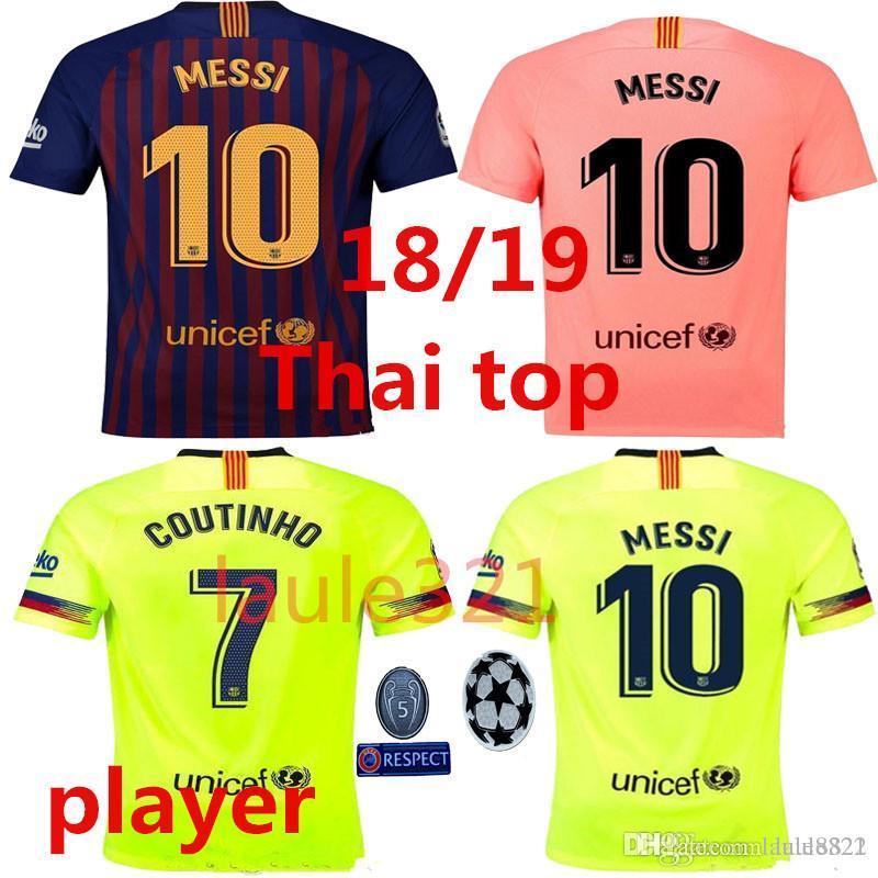 meet cda00 0188e PLAYER VERSION 2018 2019 soccer jersey Messi Barcelona 2019 NEW 8 Iniesta 9  Suárez 26 MALCOM 11 Dembele 7 Coutinho Thailand jersey