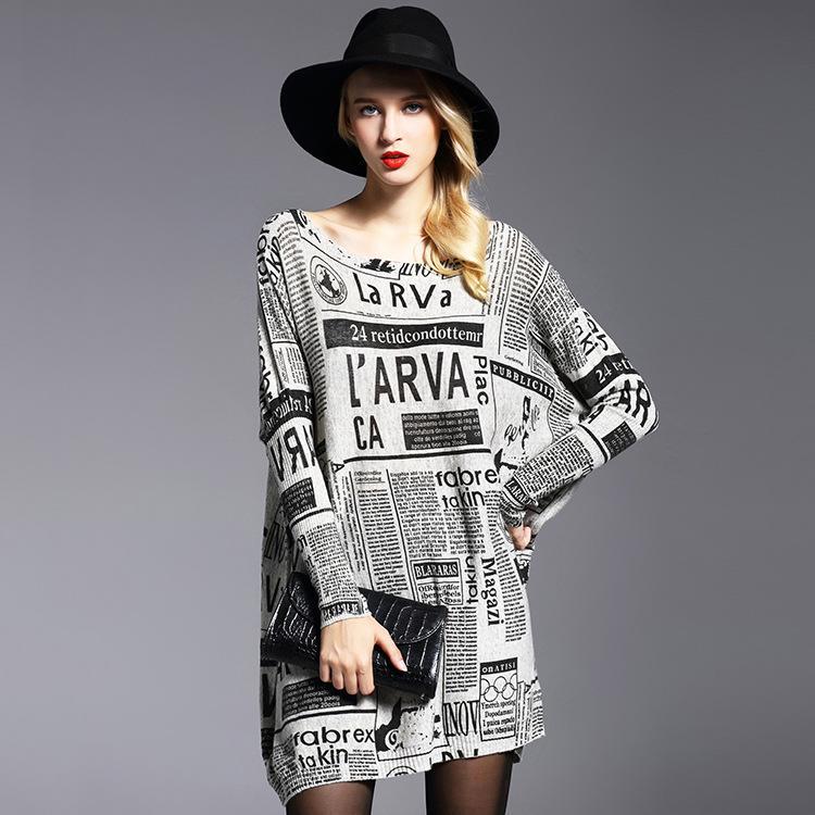 70765a36 Oversized Pullovers Sweatshirt Female Sweater Dress Women Loose Sweater  Printed Long Knit Pullovers Cheap Pullovers Oversized Pullovers Sweatshirt  Female ...