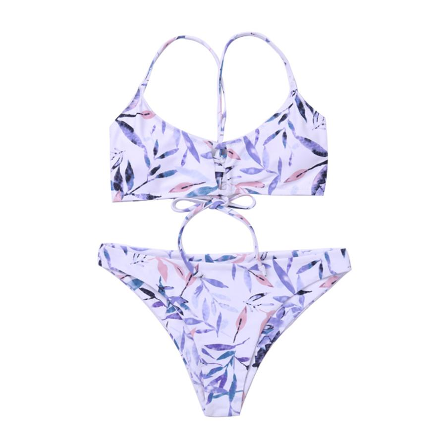 ddf5df4e Compre Sexy Push Up Bikini Traje De Baño Estampado De Limón Mujeres Arco  Traje De Baño Brasileño Biquini Pad Bikinis Halter Traje De Baño Maillot De  Bain A ...