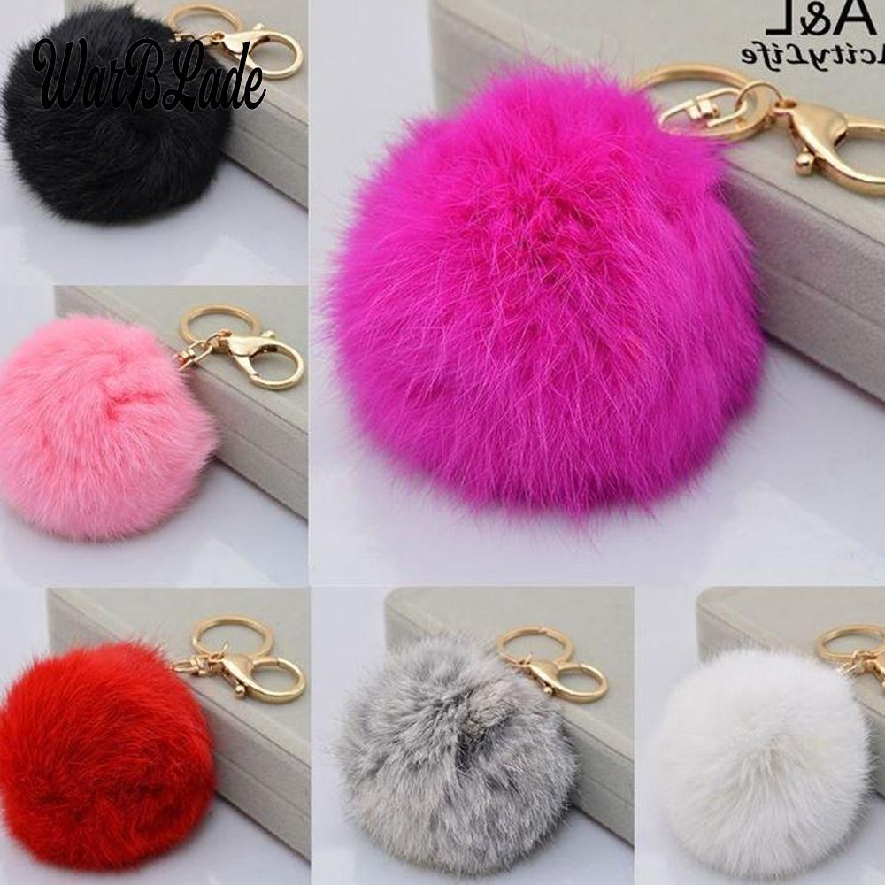 2c27b4b398 2019 New Fluffy Fur Pom Pom Keychains Soft Faux Rex Rabbit Fur Ball Car  Keyring Pompom Key Chains Women Bag Pendant Jewelry Key Ring Keyring From  Wonderliu