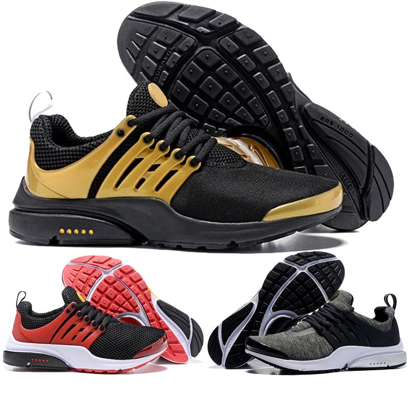 new product d739f a0e28 2019 Presto BR QS Ultra Bright Yellow Mens Womens Running Shoes Essential  Red Grey Purple Prestos Trainers Designer Training Sneakers