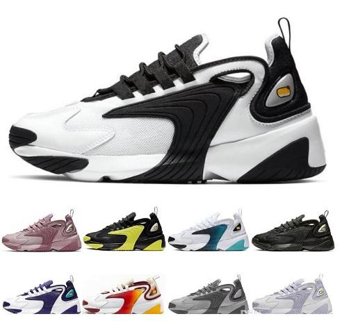 Zoom M2K 2K Tekno 2000 mens designer running shoes for womens Triple Black White Dynamic Yellow 90s style walking run sports sneakers shoes