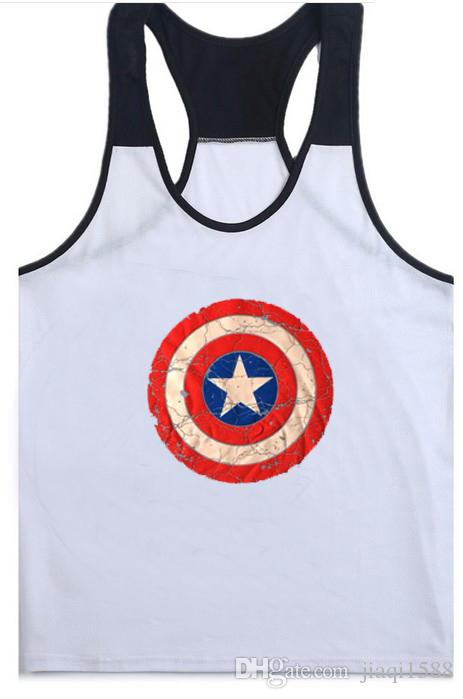 77624aae8d4b23 2019 2019 New Gym Super Hero Captain America Brand Clothing Singlets Mens  Tank Top Muscle Shirt Superman Stringer Bodybuilding Fitness Mens Vest From  ...