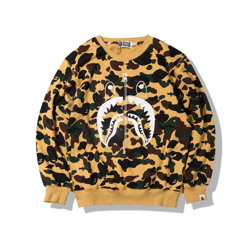 0097b39cf404 2019 Hoodies 2018 Autumn And Winter New Pattern Tide Card Camouflage Men  And Women Leisure Time Lovers Thin Money Long Sleeves T Shirts Sweater From  ...