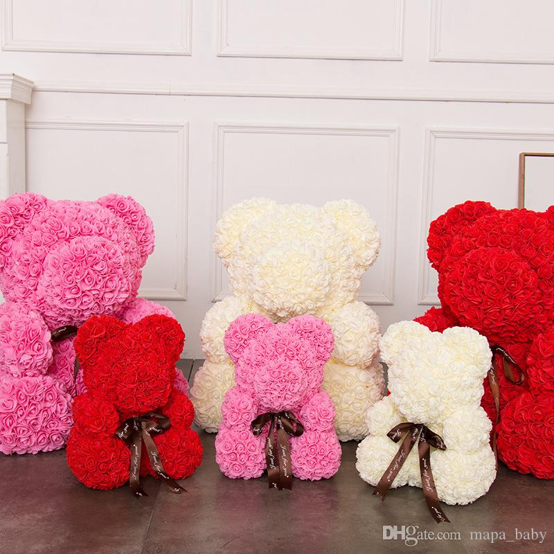 New Fashion Diy Carft Rose Bear Rose Toys Flower Artificial Christmas Gifts For Women Valentines Day Gift Rose Bear Arts & Crafts, Diy Toys Craft Toys