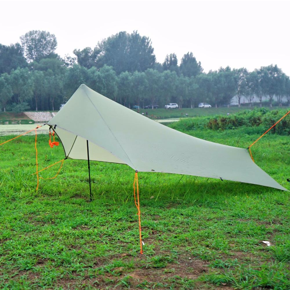 Aricxi Only 310g Light Rain Fly Tent Tarp Waterproof 20d Silicone Coating Nylon Camping Shelter Canopy Rainfly Lightweight Tarp