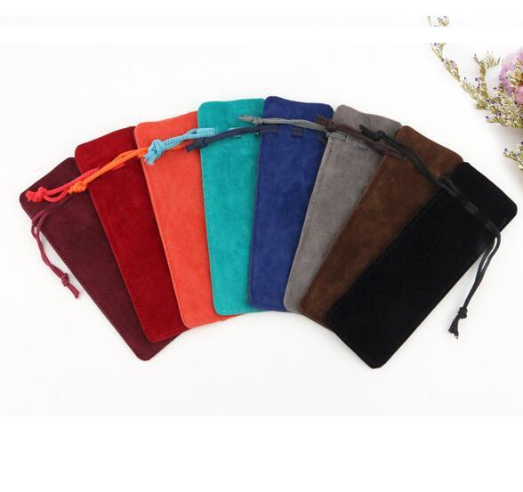 Rectangle Drawable Velvet Make Up Package Bags 13x4.5cm Colorful Wedding Christmas Storage Bags Jewelry Gift Pouches