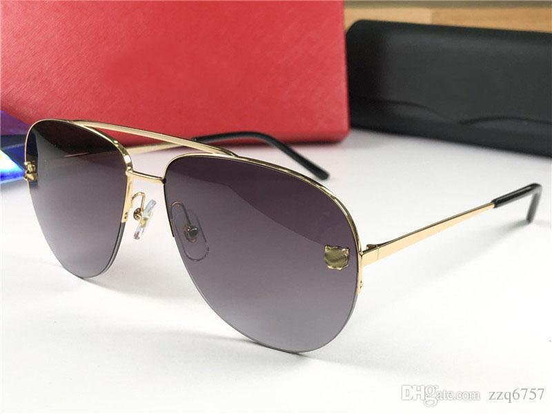 9024036dd073 Wholesale New Fashion Designer Sunglasses 0065 Simple Half Frame ...