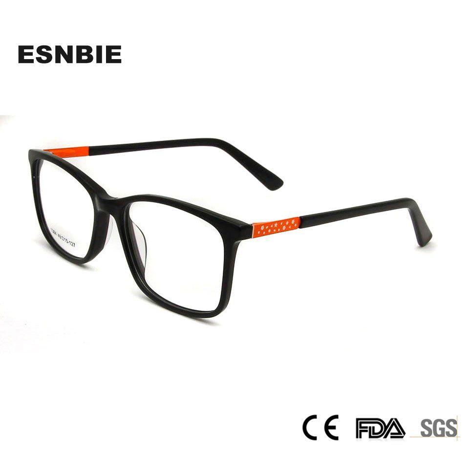 fd03b5b22154 2019 ESNBIE Acetate Eye Glasses For Kids Glasses Frame Optical Myopia Nerd  Glass Children Boys Girls Square Eyeglasses Spring Hinge From Ericgordon,  ...