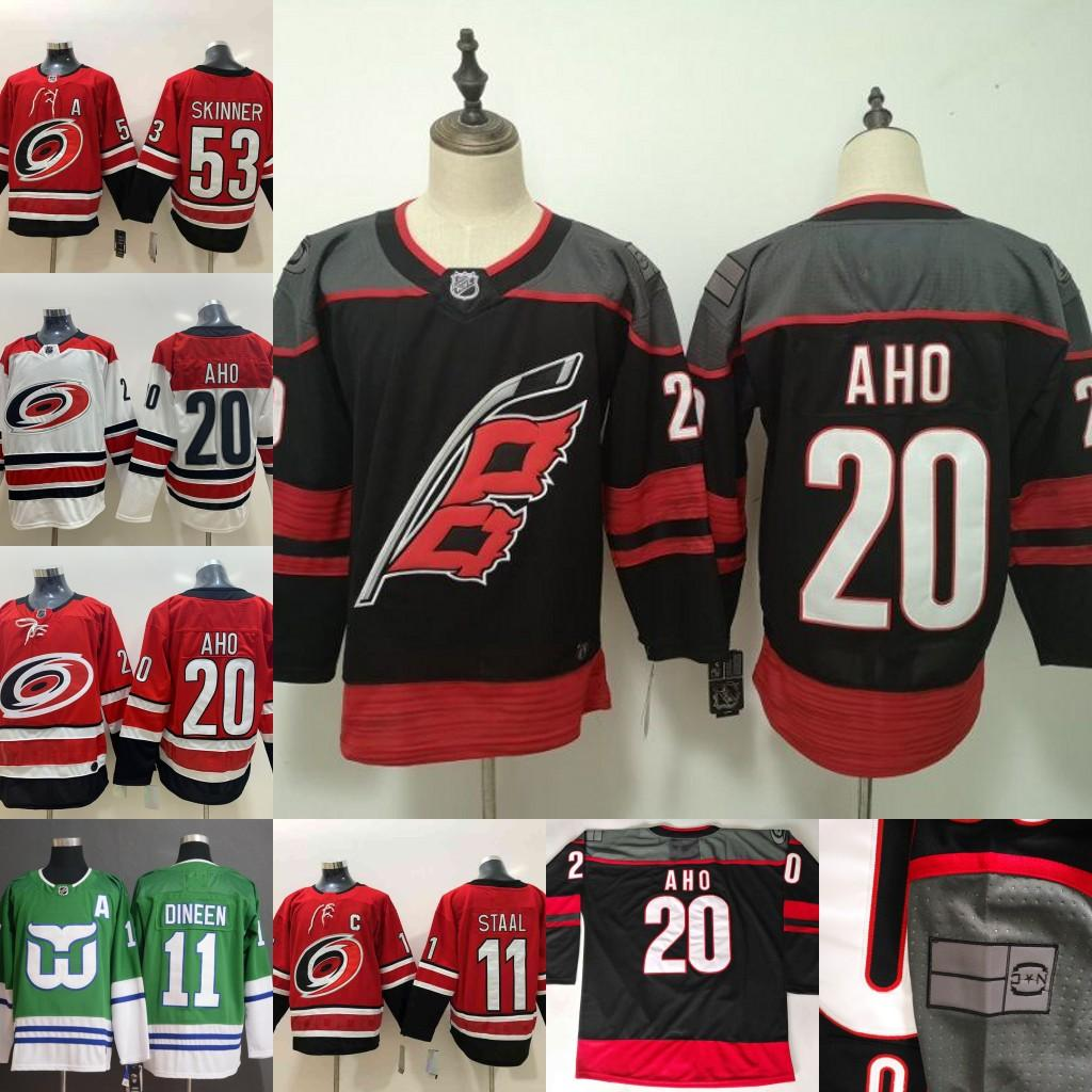 quality design dab74 7c0b4 20 Sebastian Aho Carolina Hurricanes Jersey Hartford Whalers 1 Mike Liut 10  Ron Francis 11 Staal Whalers Night Hockey Jerseys Men