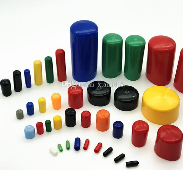 100 Pcs Rubber Caps Smart Cover Plug Sleeve Screw Protector Sealing Cap Inside Diameter from 12 mm to 27mm Black or Red