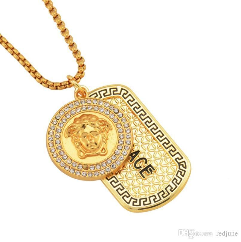 Tide Street Wear Mens Iced Out Designer Pendant Hip Hop Designer Jewelry Diamond Necklace Gold Miami Cuban Punk Link Chain