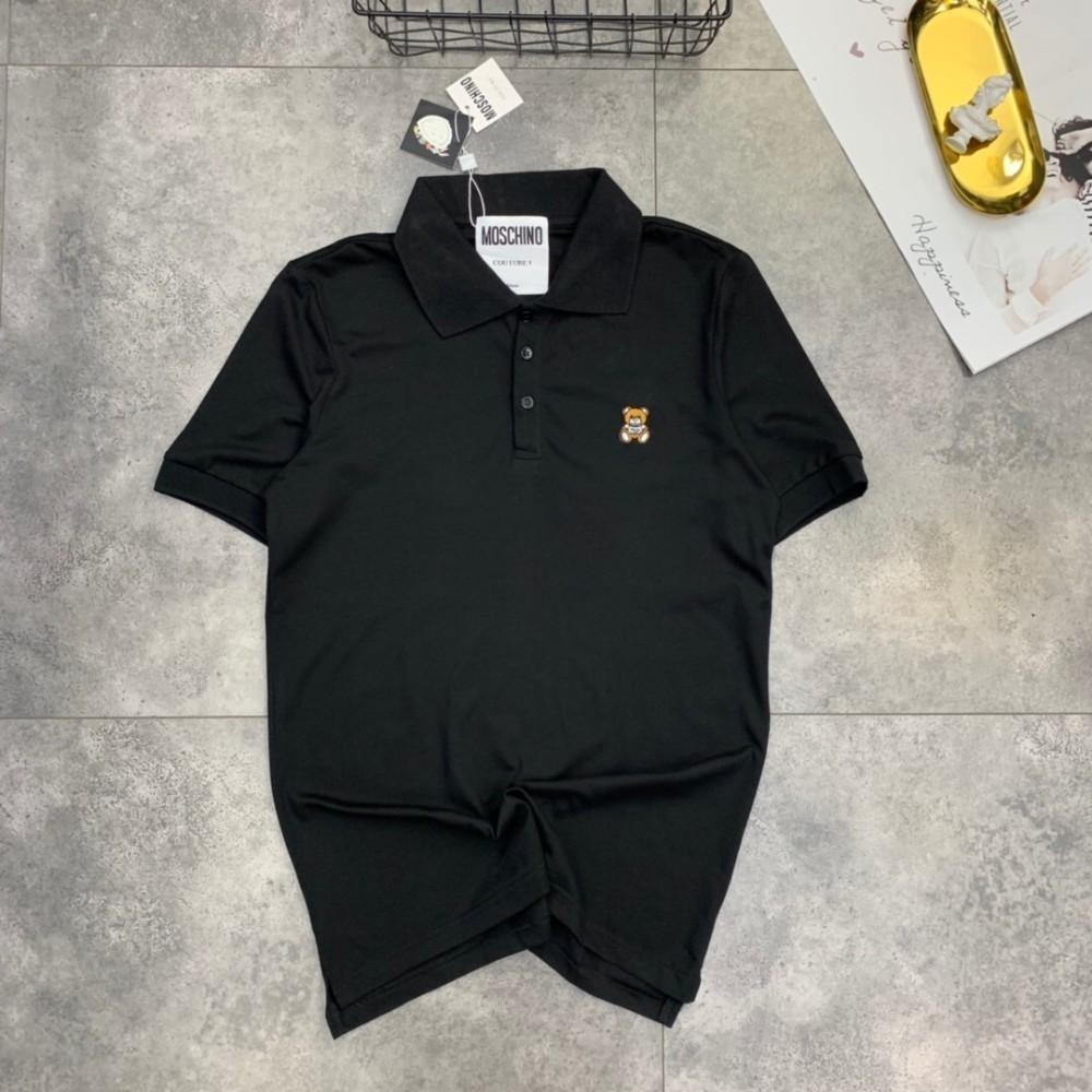 9dd0fa224 Women's counter new LOGO embroidered bear POLO shirt men and women with the  same paragraph S-2XLh