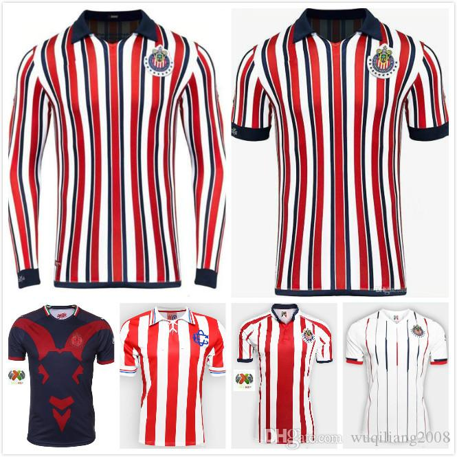 online store c520b ebefa Free shipping 2018 2019 Club Chivas de Guadalajara Soccer Jersey 2018  Chivas Club World Cup jersey 18 19 Size can be mixed batch