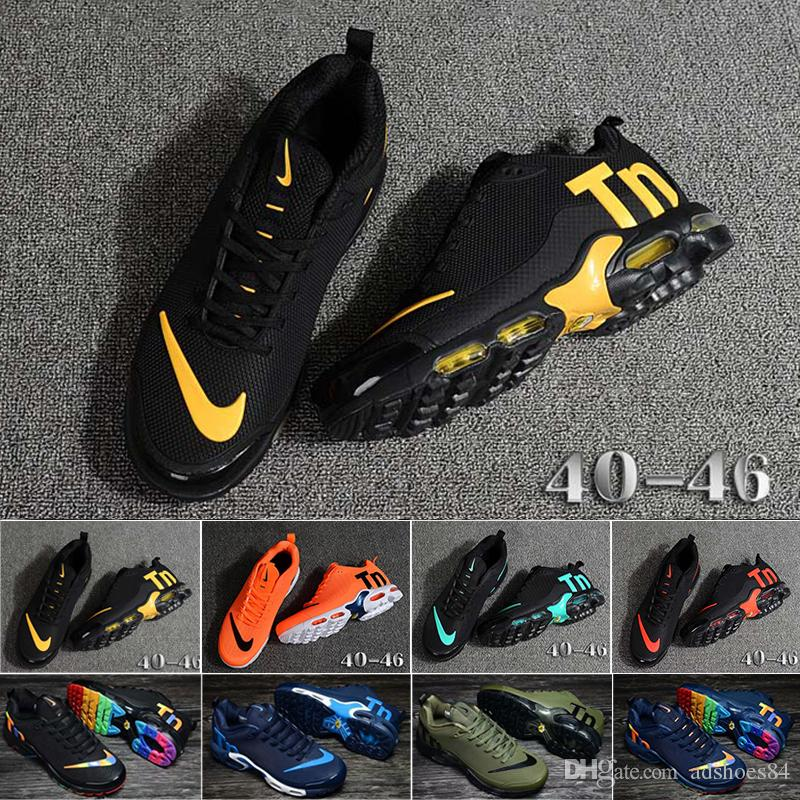 nike Tn plus air max airmax 2019 Top champagnepapi Mercurial Plus Tn Ultra SE Nero Bianco Arancione Scarpe da corsa Plus TN scarpa Donna Uomo Sneaker Sport Sneakers 36-46 A1