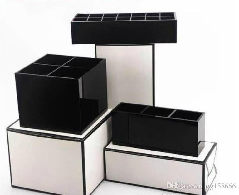 2019 new CC VIP gifts classic high-grade acrylic cosmetics storage exquisite box cosmetic accessories storage makeup brush storage