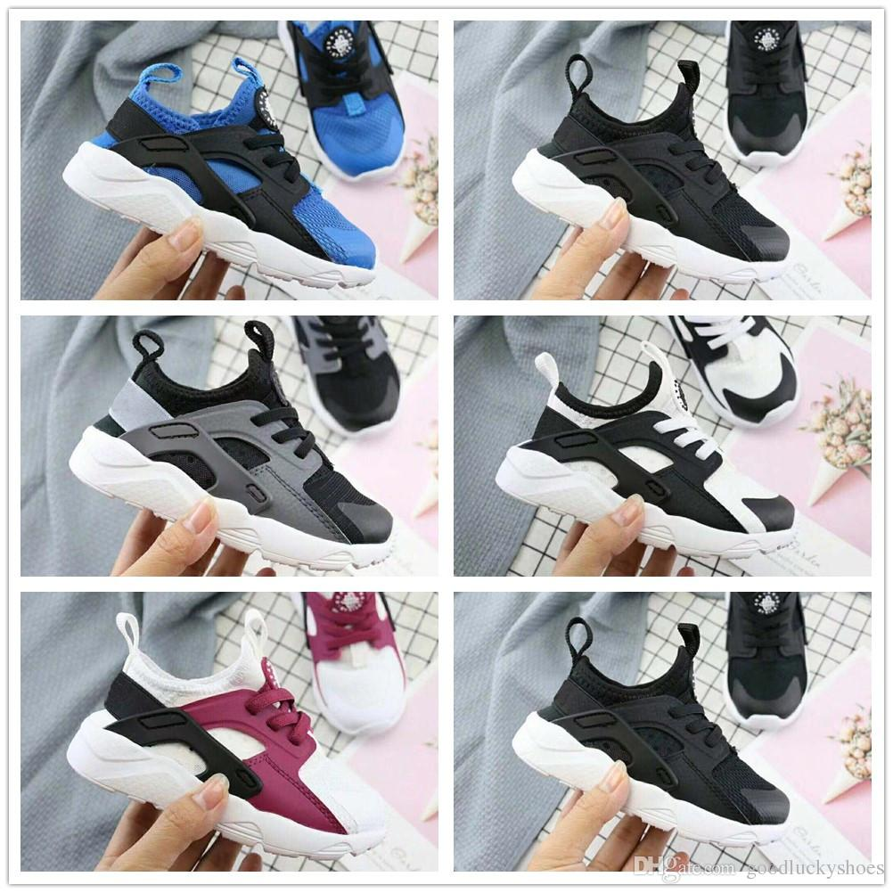 03b4c29dd282 2019 2018 Toddler Children Air Huarache IV 4.0 Ultra Running Shoes Huraches  4.0 Boys Girls Shoes Baby Kids Triple Huaraches Sneakers From  Goodluckyshoes
