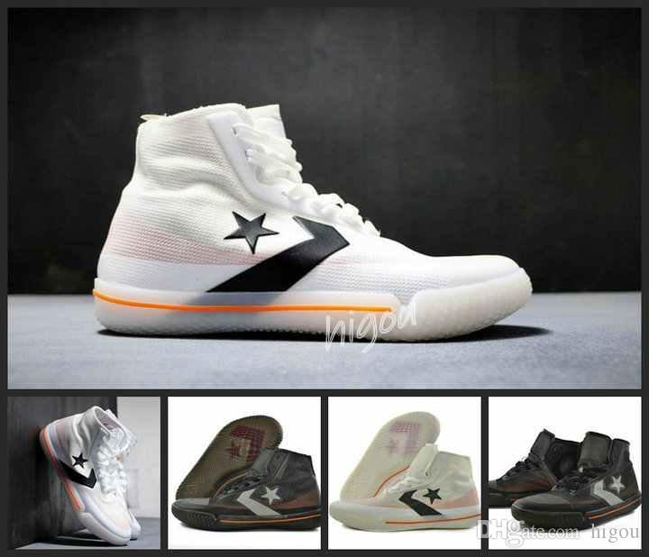 226d34c12e73f Compre 2019 Converse All Star Pro Bb Preto Branco Orange Chuck Taylor Preto  Branco Basquete Casual Fashion Designer Conversates Sapatos Sapatilhas De  Higou, ...