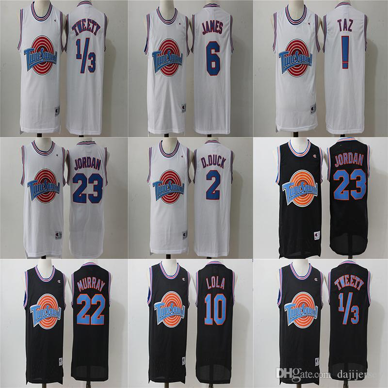 92568a53e97c 2019 Movie LeBron Space Jam Jersey 6 James Tune Squad Looney Daffy Duck  Bill Murray Lola Bugs Bunny TAZ Tweety Michael From Dajijersey
