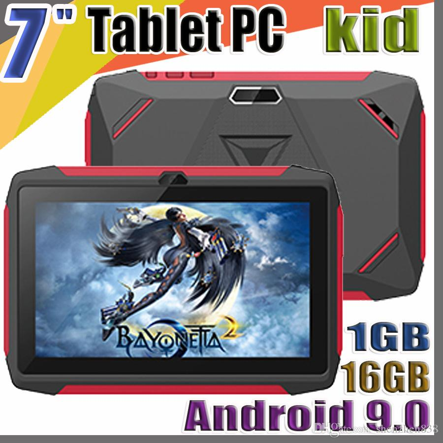 new FREE DHL kid Tablet PC Q98 Quad Core 7 Inch 1024*600 HD screen Android 9.0 AllWinner A50 real 1GB RAM 16GB Q8 with Bluetooth wifi