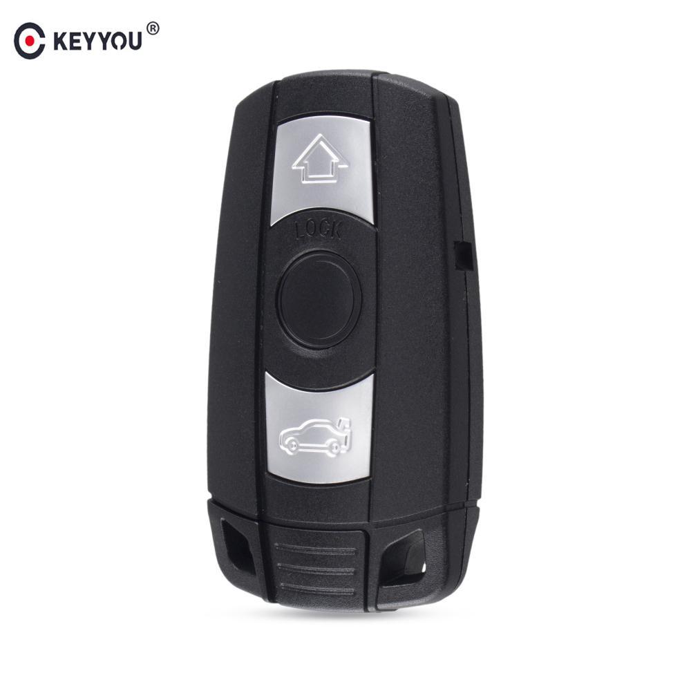 Remote 3 Button Car Key Case Styling Cover For Bmw 1 3 5 6 Series Car Key Shell Blade Fob E90 E91 E92 E60