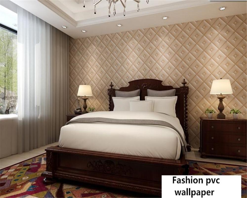papel de parede Semplice stereo europeo sfondi morbidi diamante trame TV  camera da letto classico sfondo