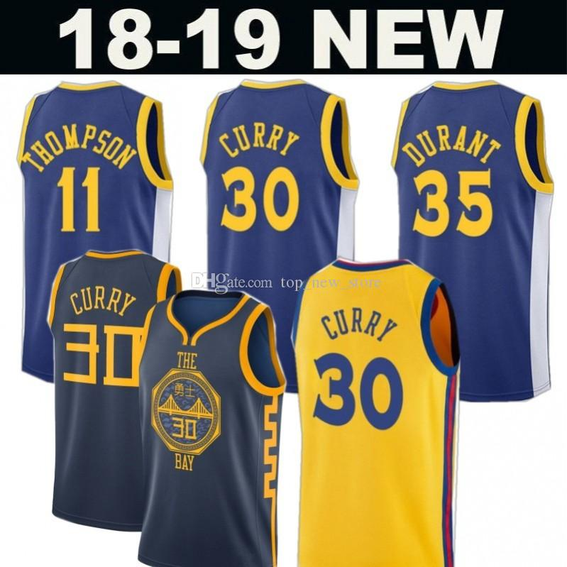 36e91b14ff8 City 2019 Golden State 30 Stephen Curry 35 Kevin Durant Warriors ...
