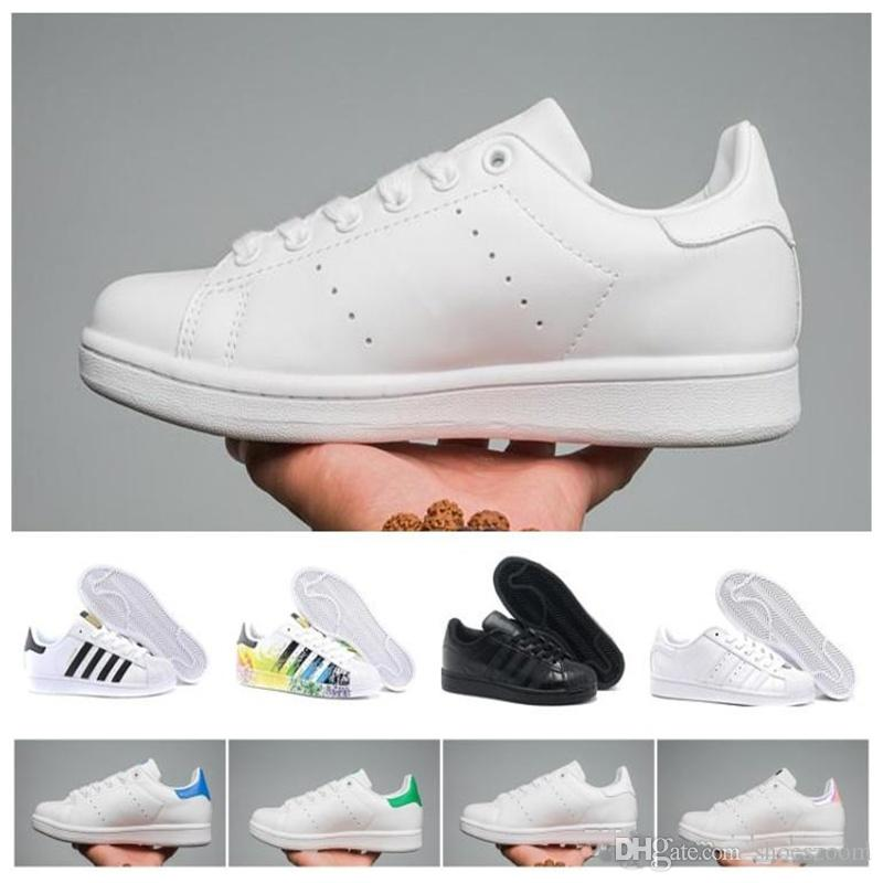 sale retailer 5b0c2 72a06 Scarpe Tennis Top Quality 2019 Originals Superstar Stan Smith Uomo Donna  Raf Simons All Bianco Nero Rosso Verde Super Star Stansmith Scarpe Casual  36 44 ...