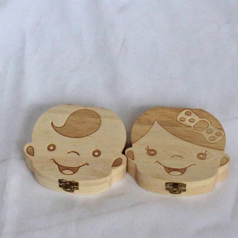 2625e775919ec9 Baby-zähne-box Baby-zahnsammlung Box Holzzahn Organizer für Kinder  Laubgepäck Aufbewahrung Geschenk Andenken