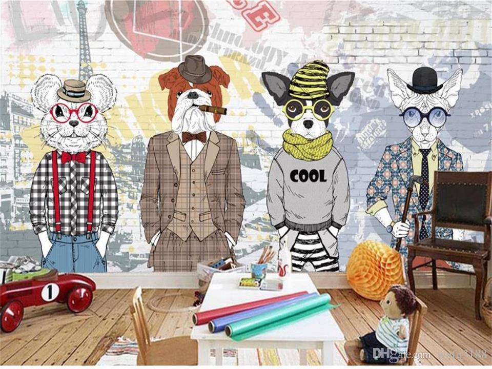 Custom size 3d photo wallpaper mural living room bed room Cartoon Animal Store 3d picture sofa TV backdrop wallpaper mural non-woven sticker