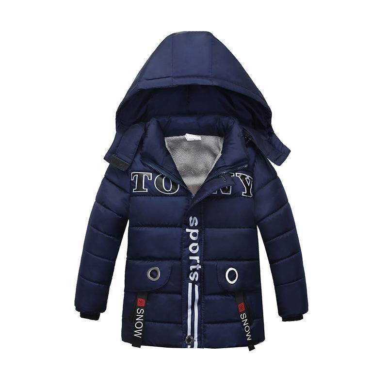 d194fab5f8d 2019 New Baby Winter Coat Kids Warm Winter Outerwear Hooded fashion  Children Down Jackets Boys Girls Cotton Coat