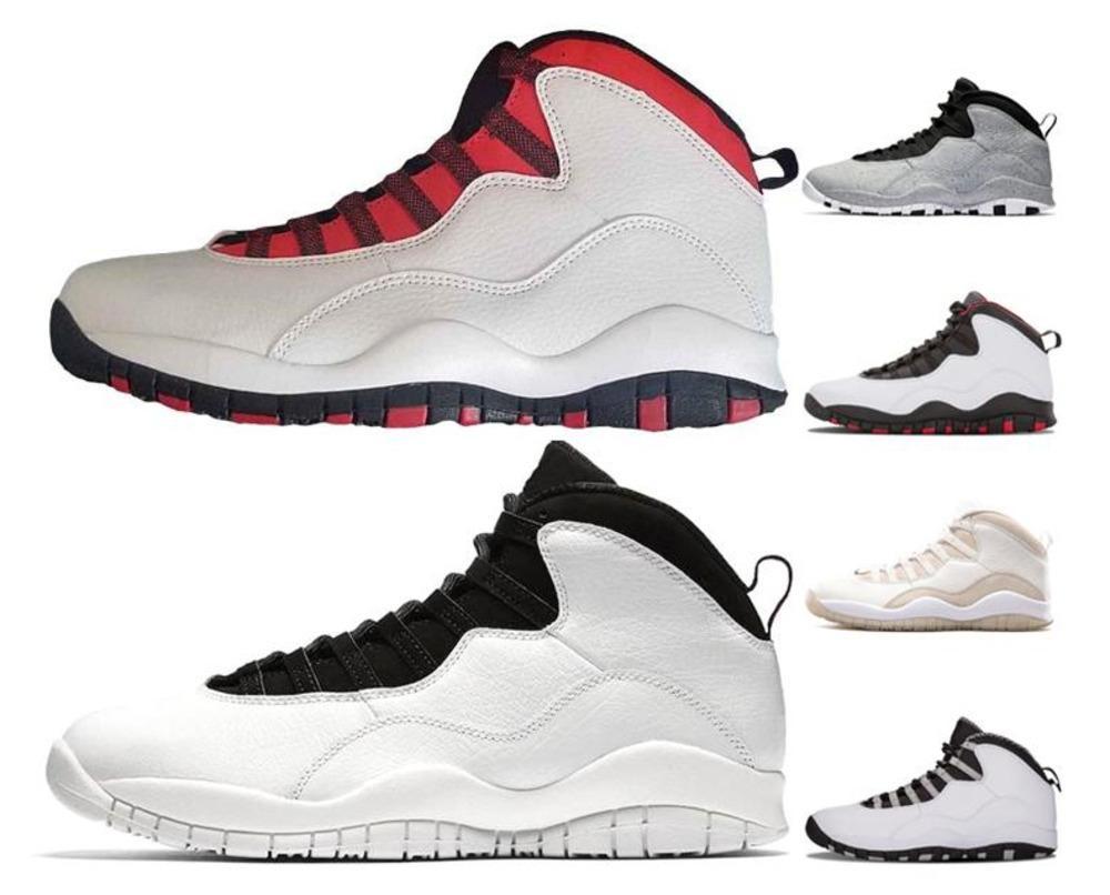 size 40 97572 bdc9e Acheter 2019 Hoting 10s Basketball Trainer Chaussures 10 Tinker Cement  Steel Grey Cool Grey Designer Mens 10s Black Je Suis De Retour Au Sport  Running Sne ...