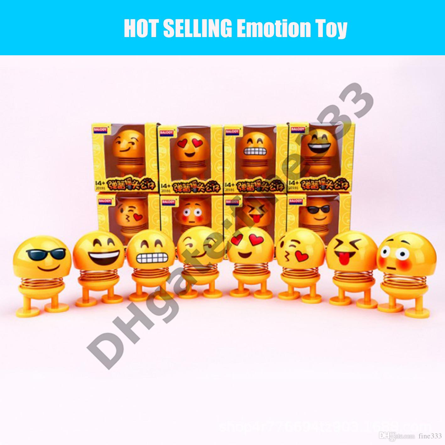 Emoticons toys Car Swing Jewelry Shake Head Doll Decoration Creative Desktop Bling Girl Accessories Interior Dashboard Toys Cute Ornament