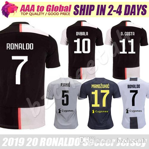 e9a17a6b1 2019 Cristiano Ronaldo Jersey 2020 Top Football Shirts Mandzukic Chiellini  Marchisio Pjanic Ronaldo Dybala Soccer Jerseys Uniform Maillot De Foot From  ...