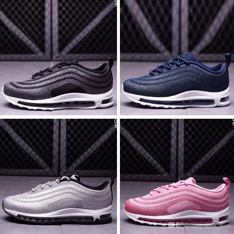buy popular d443d e2793 Compre Nike Air Max 97 Bebê Crianças Correndo Sapatos 97 KPU Sapatos De  Treinamento De Plástico Juventude Meninos Meninas Atacado Crianças Ao Ar  Livre Tênis ...