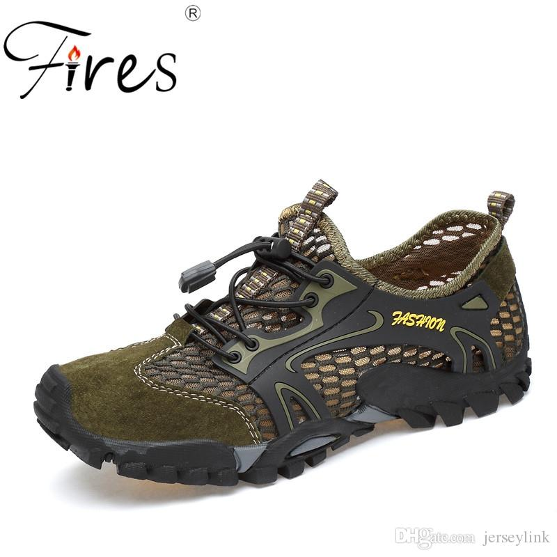 Fires Outdoor Sports Hiking Shoes For Men Mesh Mountaineering Hunting 38-45 Camping Shoes Summer Breathable Upstream #97084