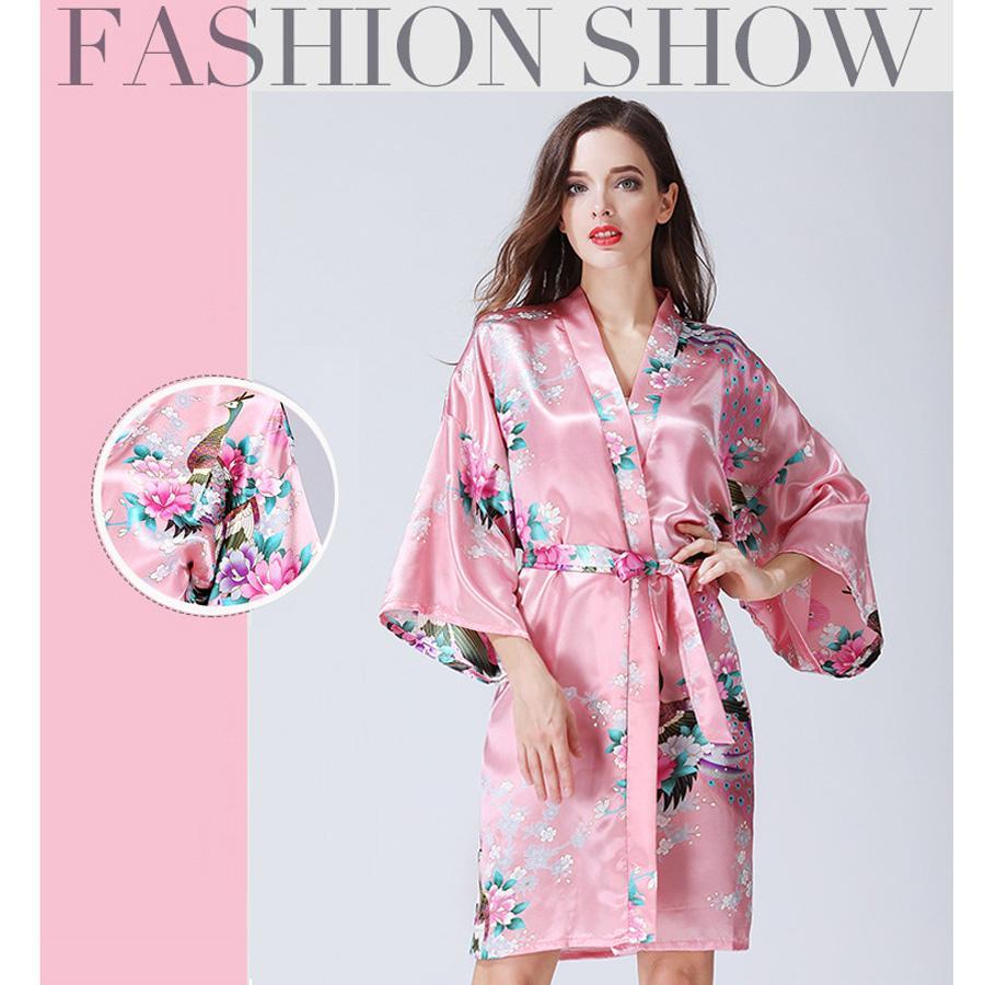 Home clothing sexy women kimono robe pajamas printing flower jpg 900x900 Kimono  pajamas 57bfb0f00