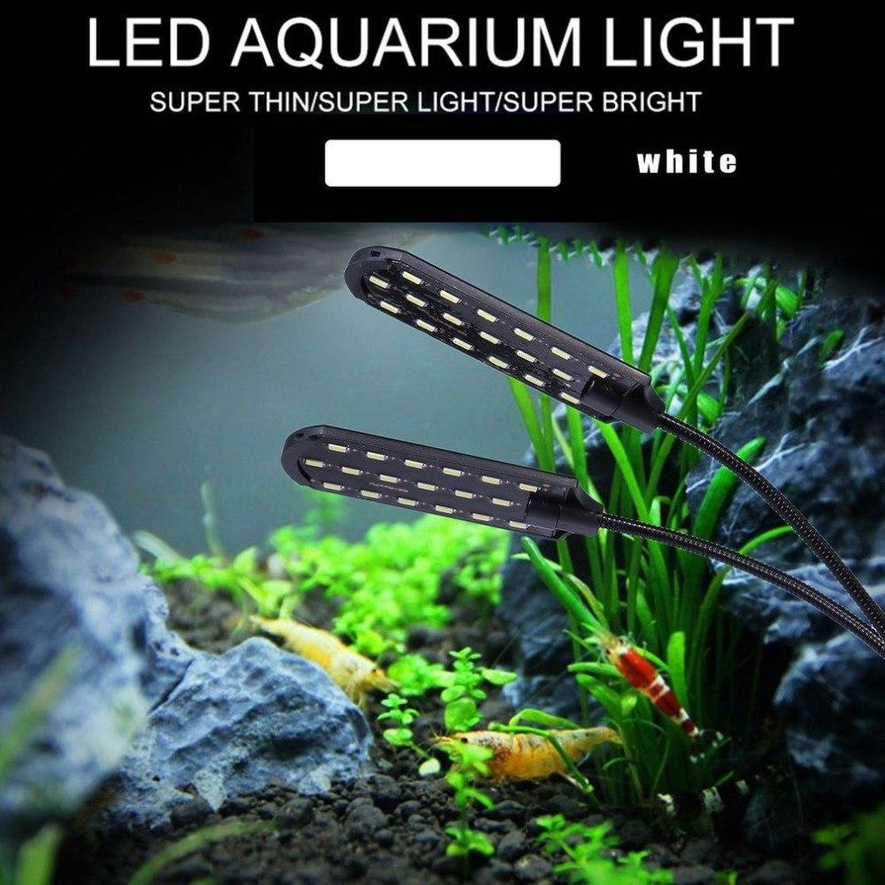 Lampe Light Eu Aquarium Tête Double Plante Plantes De X7 Plug Étanche Super La Tank On Lumineux Lumière Fish Cultivent Led Clip ulcTK31FJ